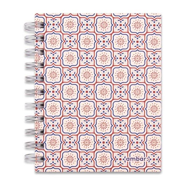Kroužkový blok Ambar Lusa A6, linkovaný, 120 listů, mix motivů