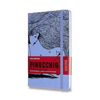 Obrázek produktu Zápisník Moleskine Pinocchio - tvrdé desky - L, čistý, modrý