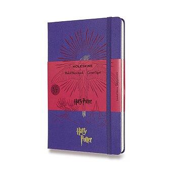 Obrázek produktu Zápisník Moleskine Harry Potter - tvrdé desky - L, linkovaný, Book 5, modrý