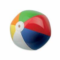 BEACH COLOUR - plastový nafukovací míč, 6 panelů
