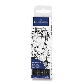 Obrázek produktu Popisovač Faber-Castell Pitt Artist Pen Manga - 4 kusy, černé II
