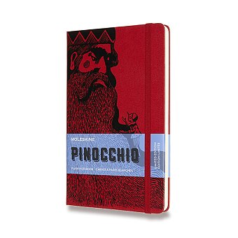 Obrázek produktu Zápisník Moleskine Pinocchio - tvrdé desky - L, čistý, červený