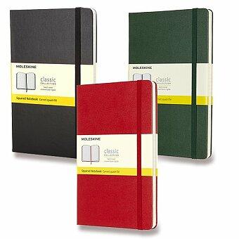 Obrázek produktu Zápisník Moleskine - tvrdé desky - L, čtverečkovaný, výběr barev