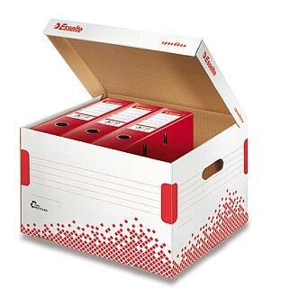 Obrázek produktu Archivační kontejner  Speedbox Esselte  s víkem - 392 x 301 x 334 mm, na pořadače