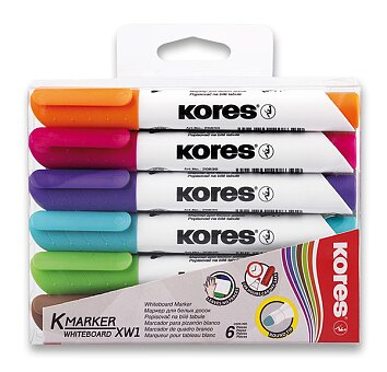 Obrázek produktu Popisovač Kores K-Marker Whiteboard - sada 6 barev