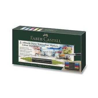 Obrázek produktu Akvarelové popisovače Faber-Castell Albrecht Dürer - Urban sketch, 5 barev