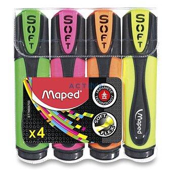 Obrázek produktu Zvýrazňovač Maped Fluo Peps Ultra Soft - sada 4 barev