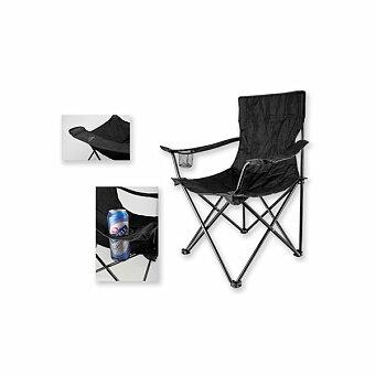 Obrázek produktu BEAVER THRONE - textilní skládací židle, nosnost 100 kg, černá
