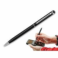 SLIM TOUCH - kovové kuličkové pero s funkcí touch pen, modrá náplň, výběr barev