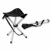 BEAVER TRAMPER - textilní skládací židle trojnohá, nosnost 100 kg, černá