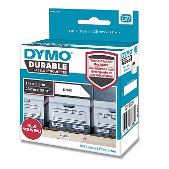 Obrázek produktu Velmi odolná páska Dymo - vhodná na regály, 89 x 25 mm, 100 ks