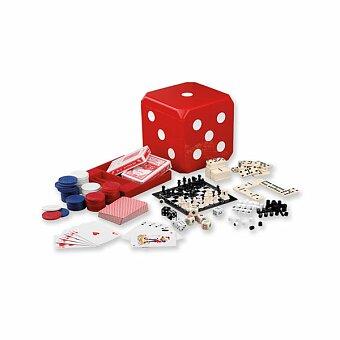 Obrázek produktu CUBE - sada společenských her 6 v 1, červená