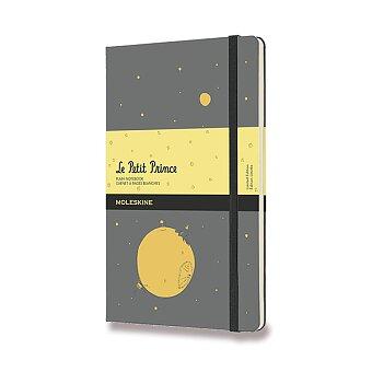 Obrázek produktu Zápisník Moleskine Le Petit Prince - tvrdé desky - L, čistý, šedý