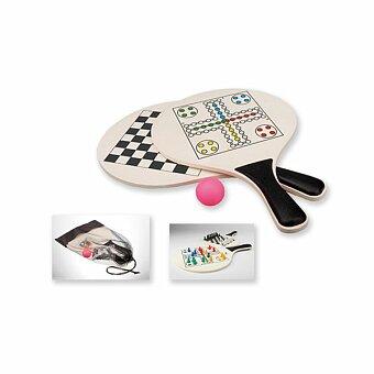 Obrázek produktu DUEL - sada her, 2x pálky, 1x míček, šachy a člověče nezlob se