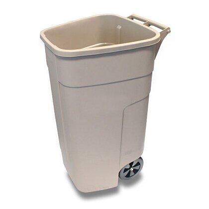 Obrázek produktu Rubbermaid Container - plastová nádoba na třídění odpadu - 110 l, béžová