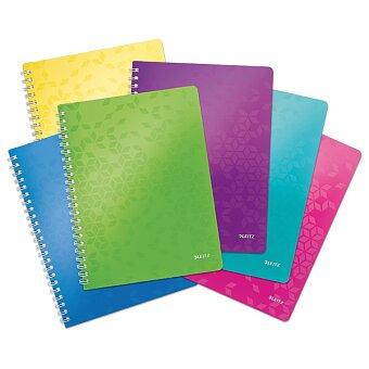 Obrázek produktu Kroužkový blok Leitz Wow - A4, linkovaný, 80 listů, výběr barev