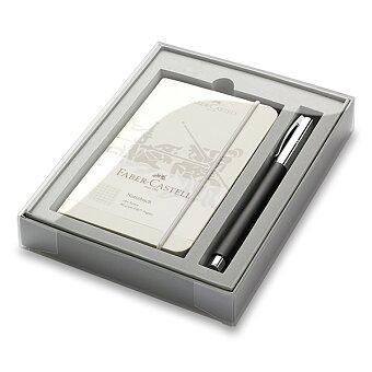 Obrázek produktu Faber-Castell Ambition Precious Resin - roller, dárková sada se zápisníkem