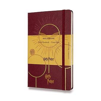 Obrázek produktu Zápisník Moleskine Harry Potter - tvrdé desky - L, linkovaný, Book 6, vínový