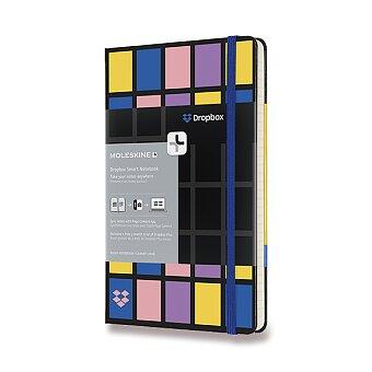 Obrázek produktu Zápisník Moleskine Smart Writing Dropbox - tvrdé desky - L, linkovaný, černý
