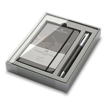 Obrázek produktu Faber-Castell Ambition Precious Resin - kuličková tužka, dárková kazeta se zápisníkem
