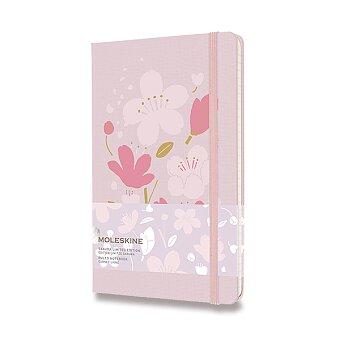 Obrázek produktu Zápisník Moleskine Sakura - tvrdé desky - L, linkovaný, růžový