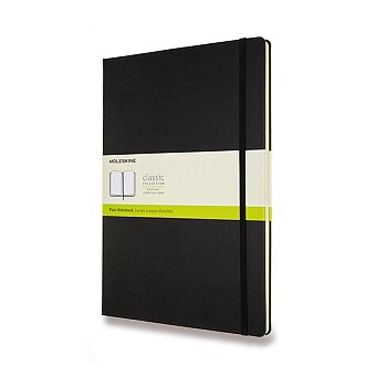 Obrázek produktu Zápisník Moleskine - tvrdé desky - A4, čistý, černý