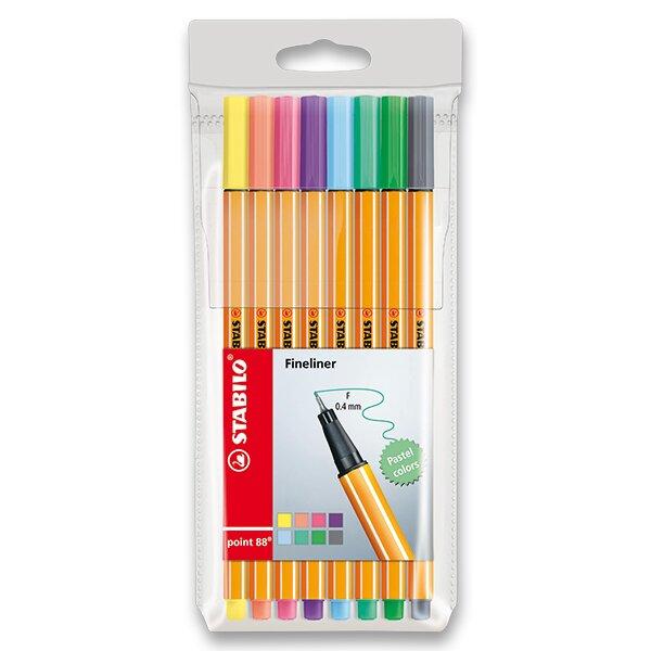 Liner Stabilo Point 88 sada 8 pastelových barev
