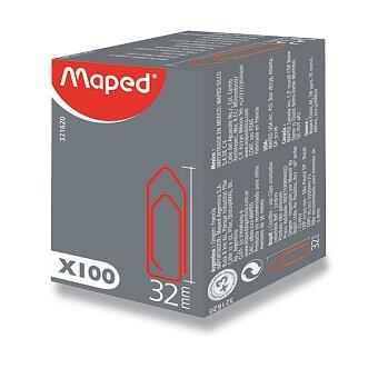 Obrázek produktu Sponky Maped barevné - 32 mm, 100 kusů, krabička