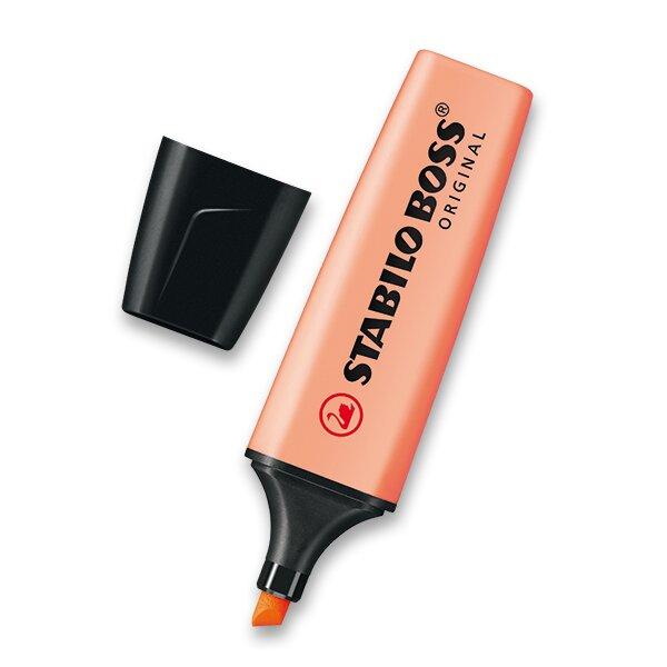 Zvýrazňovač Stabilo Boss Original Pastel oranžový