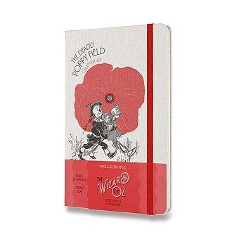 Obrázek produktu Zápisník Moleskine Wizard Of Oz  - tvrdé desky - L, linkovaný, červený