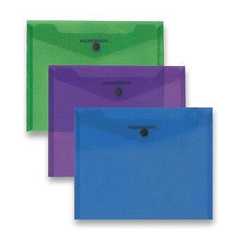 Obrázek produktu Spisovka s drukem Foldermate Carry File - A4, transparentní, výběr barev