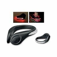 BLINKER - plastová blikačka na kolo nebo běhání s 2 červenými LED, černá