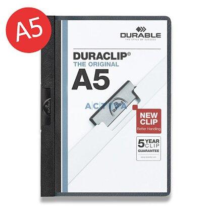 Obrázek produktu Durable Duraclip - plastový rychlovazač A5 - černý