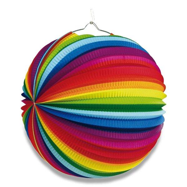 Papírový lampion Rainbow průměr 50 cm