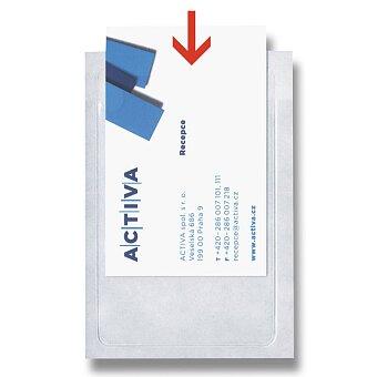 Obrázek produktu Samolepící pouzdro na vizitky - 59 x 95 mm, 6 ks