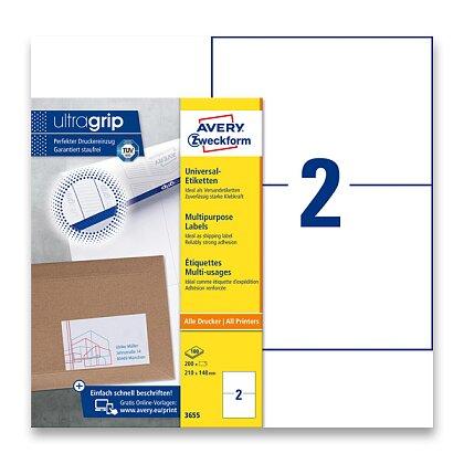 Obrázek produktu Avery Zweckform - univerzální etikety - 210,0 x 148,0 mm, 200 etiket