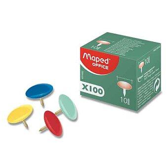 Obrázek produktu Barevné napínáčky Maped - průměr 10 mm, 100 ks