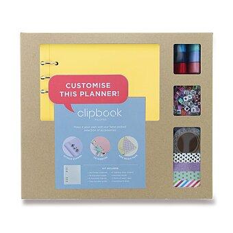 Obrázek produktu Blok s doplňky Filofax Clipbook Kit Pastel A5 - žlutá