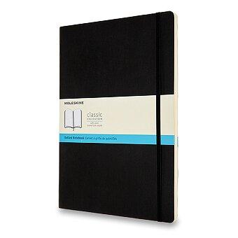 Obrázek produktu Zápisník Moleskine - měkké desky - A4, tečkovaný, černý