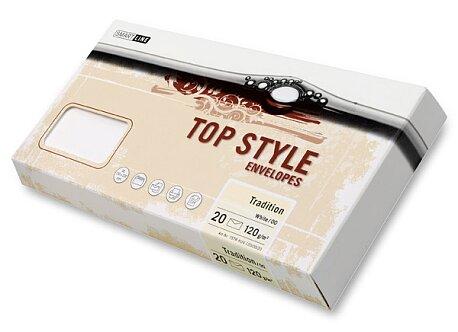 Obrázek produktu Obálka Top Style Envelopes Tradition - DL, 20 ks, Laid, bílá