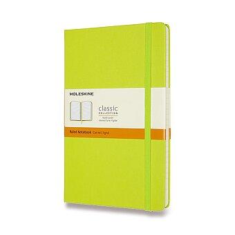 Obrázek produktu Zápisník Moleskine - tvrdé desky - L, linkovaný, limetka