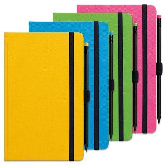 Obrázek produktu Zápisník Graspo G-Notes - 13 x 21 cm, linka, včetně tužky, výběr barev