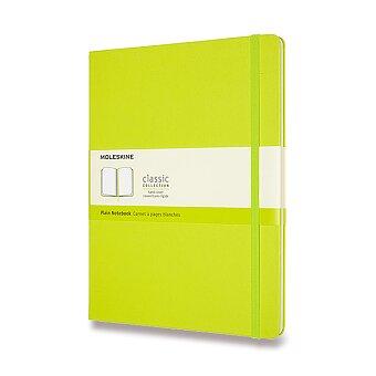 Obrázek produktu Zápisník Moleskine - tvrdé desky - XL, čistý, limetka