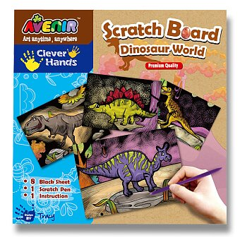 Obrázek produktu Vyškrábej si obrázek - dinosauři