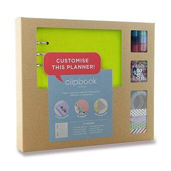 Obrázek produktu Blok s doplňky Filofax Clipbook Kit Pastel A5 - limetka