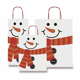 Obrázek produktu Dárková taška Fantasia Sněhulák - různé rozměry