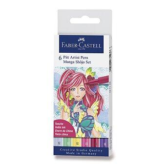 Obrázek produktu Popisovač Faber-Castell Pitt Artist Pen Manga - 6 kusů, Shojo