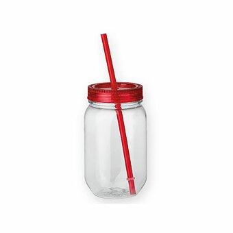 Obrázek produktu STRAW - plastová láhev s brčkem, 550 ml, výběr barev