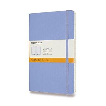 Obrázek produktu Zápisník Moleskine - měkké desky - L, linkovaný, nebesky modrý
