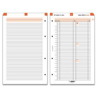 Obrázek produktu Denní plány termínované ADK 2021 - náplň k A5 diářům ADK